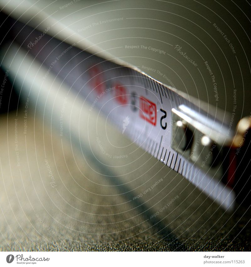 The measure is full Tape measure Unit of measurement Centimeter Norm Gap Table Close-up Depth of field Blur Precision Craft (trade) DIN Accuracy Shadow Metal