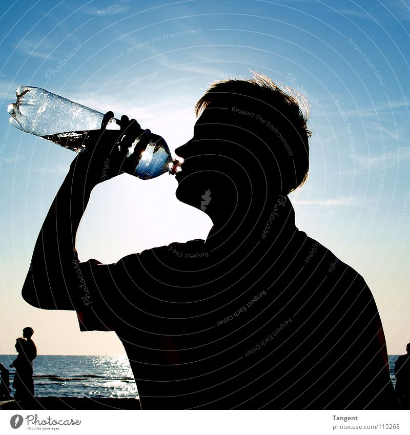 summer Summer Beach Ocean Refreshment Beverage Drinking Mineral water Physics Leisure and hobbies Sun Water Bottle Youth (Young adults) Weather Warmth Shadow