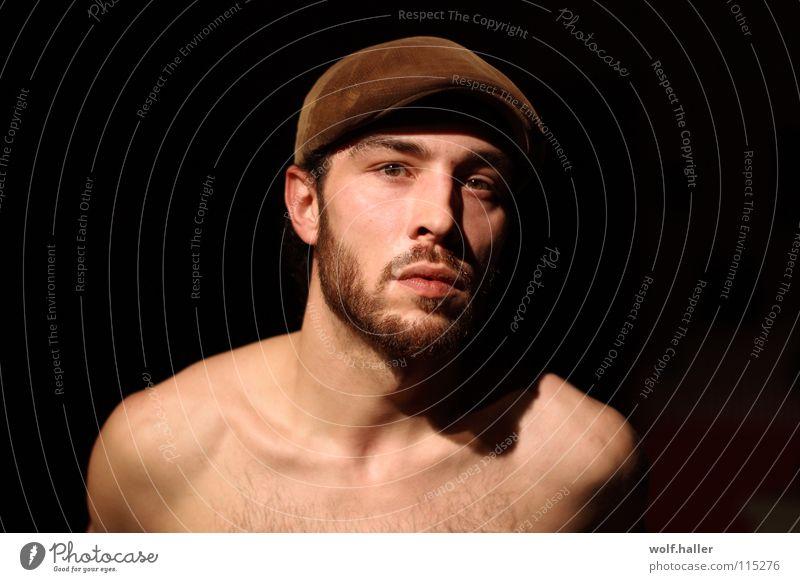 Man Beautiful Face Mouth Brown Facial hair Cap