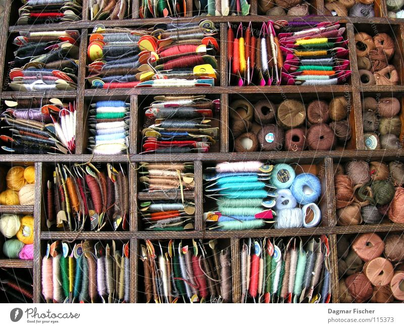 Colour Wood Brown Leisure and hobbies Arrangement Cloth Harmonious Craft (trade) Storage Muddled Box Sewing thread Textiles Coil Wool