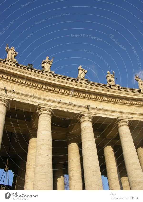 Vatican Historic Building Rome Italy Statue Worm's-eye view Ancient Religion and faith Belief Vacation & Travel Architecture Column Sky Blue