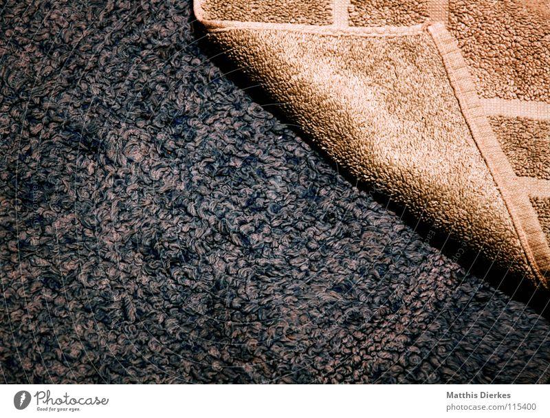bath mat Bathroom Bath mat Carpet Towel Physics Cloth Fleece Gray Black Brown Yellow Pattern Sharp-edged Relaxation Preparation Wellness Vacation & Travel