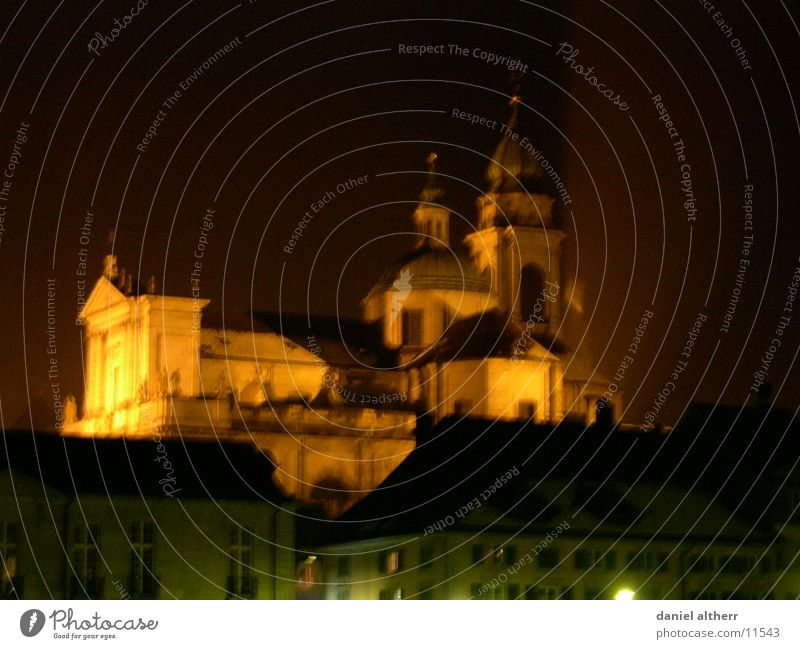 my hometown Town Deities Building Night Winter Architecture Cathedral God Religion and faith Night shot Solothurn st. ursen Skyline