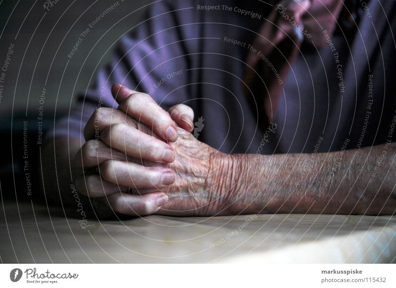 Hand Senior citizen Religion and faith Fear Shows Science & Research Wrinkles Past Symbols and metaphors Society Prayer Human being Belief Senses Christianity