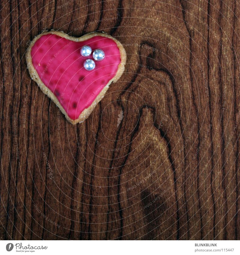 Red Love Wood Feasts & Celebrations Brown Pink Table Heart Cooking & Baking Cute Sweet Romance Delicious Baked goods Silver Sugar
