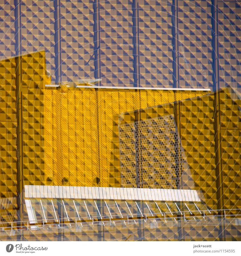 Gold in square Architecture Berlin zoo Tourist Attraction Berlin Philharmonic Exceptional Design Innovative Inspiration Surrealism Irritation Double exposure