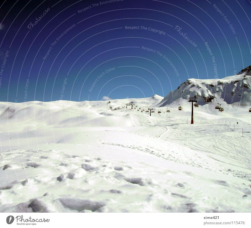 Sky White Blue Winter Cold Snow Mountain Freedom Switzerland Chair lift