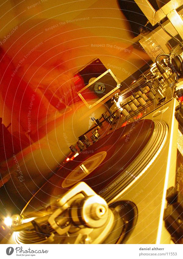 DJs @ work Disc jockey Way out Disco Record Club Night Night life Work and employment Long exposure Music Sound