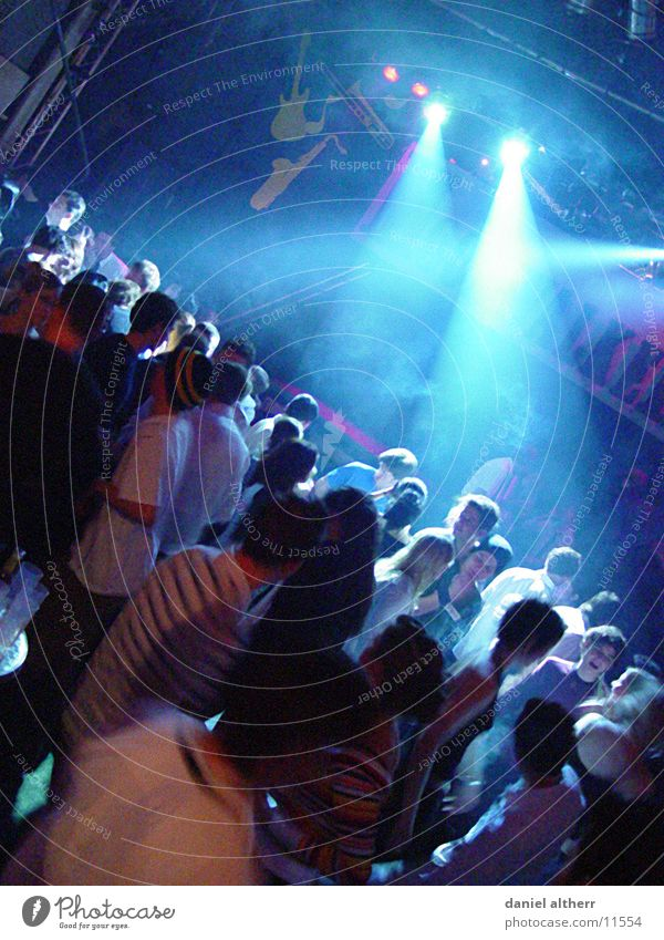 Human being Blue Joy Party Dance Disco Club Stage lighting Way out