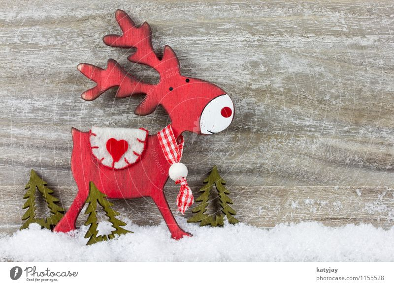 reindeer Christmas & Advent Reindeer Snow Snowfall Star (Symbol) Card Decoration Winter December Happiness Festive Gift Donate Credit Background picture Wood