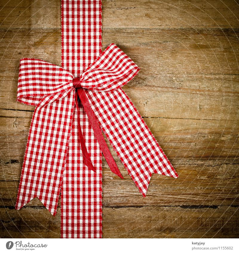 Christmas & Advent Red Joy Wood Birthday Gift String Card Surprise Wooden board Checkered Valentine's Day Bow Donate Rustic Mother's Day