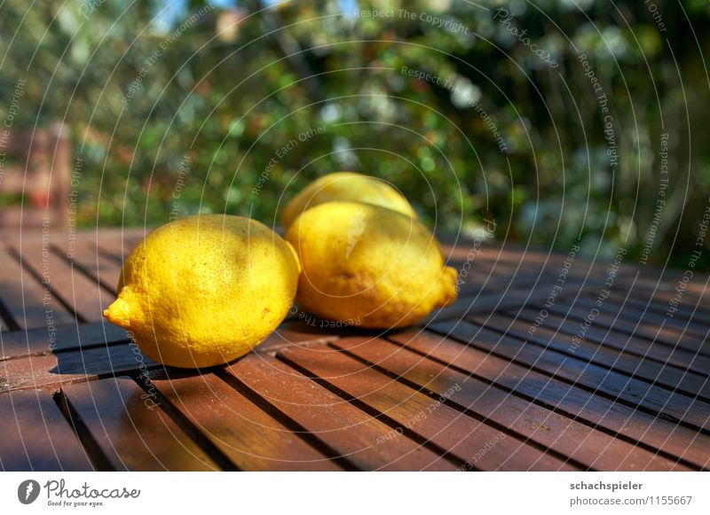 Vitamin C served up I Food Fruit Lemon Tabletop Fresh Healthy Juicy Brown Yellow Green To enjoy Colour photo Exterior shot Deserted Day Shallow depth of field