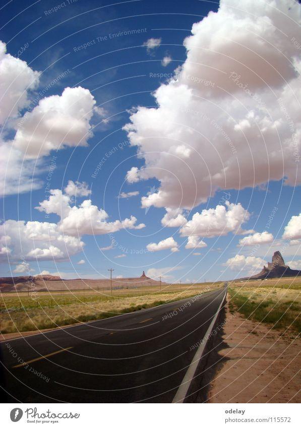 Highway 163 Arizona Clouds Sky Mountain USA Rock Street