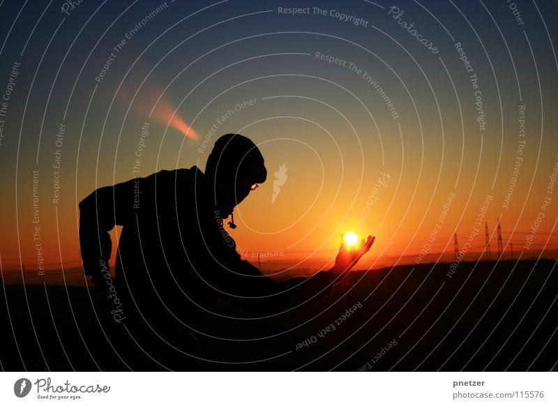 Sky Man Nature Blue Sun Vacation & Travel Winter Black Loneliness Landscape Freedom Orange Contentment Progress Sunset