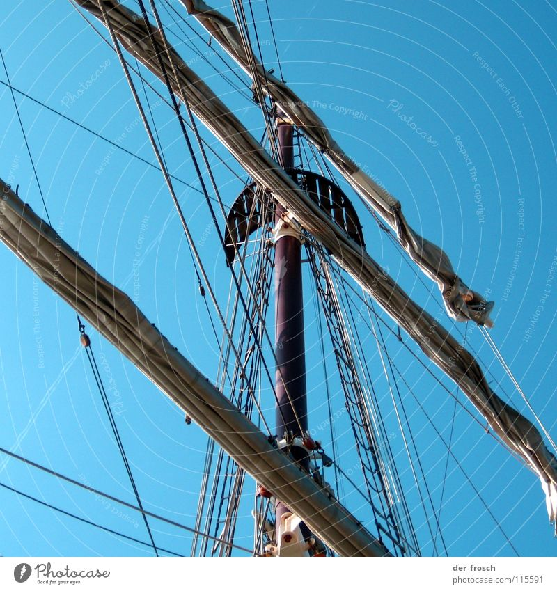 Sky Ocean Blue Vacation & Travel Watercraft Wind Rope To fall Sailing Navigation Electricity pylon Wanderlust Aquatics Pirate Rigging
