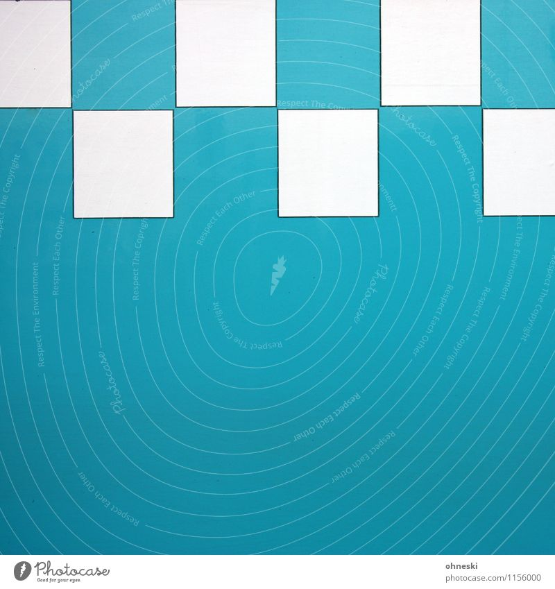 plaid Design Square Metal Line Network Turquoise Structures and shapes Colour photo Exterior shot Abstract Pattern Copy Space left Copy Space right