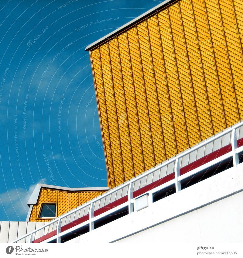 philharmonic IV Berlin Philharmonic Building Culture Concert Event Facade Yellow White Modern Sky Hans Scharoun Gold Blue Handrail Architecture