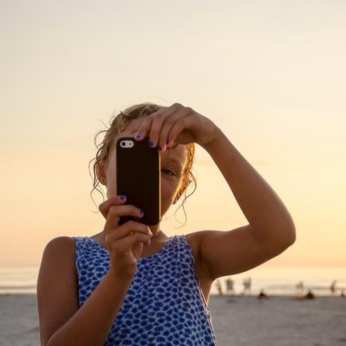 Selfie at the beach Vacation & Travel Tourism Trip Far-off places Freedom Summer Summer vacation Sun Beach Ocean Human being Feminine Girl Infancy 1