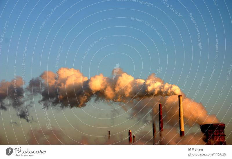 cloud machine Smoke Steam Clouds White Cologne Industry Sky Chimney Blue Climate change godorf shell