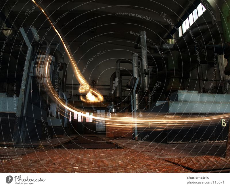 Industrial Photography Dynamics Light Tracer path Engine room