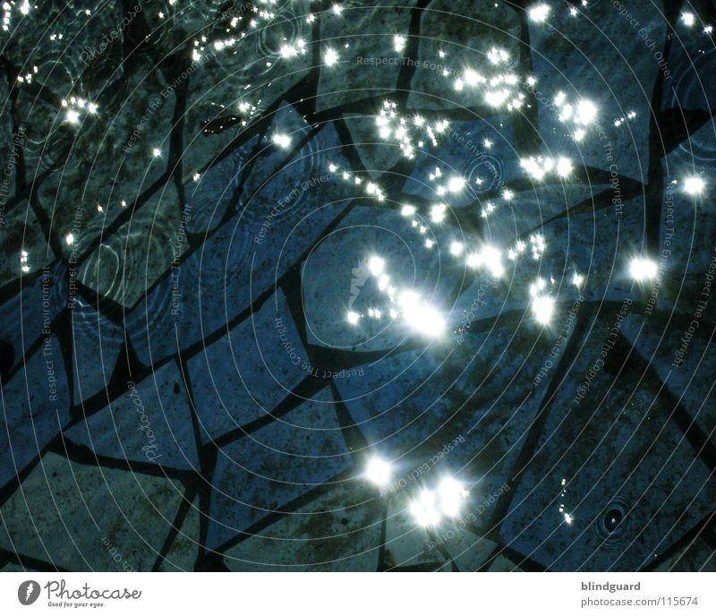 Water Sun Ocean Lamp Dark Stone Bright Lighting Wet Star (Symbol) Part Division Flow Mosaic