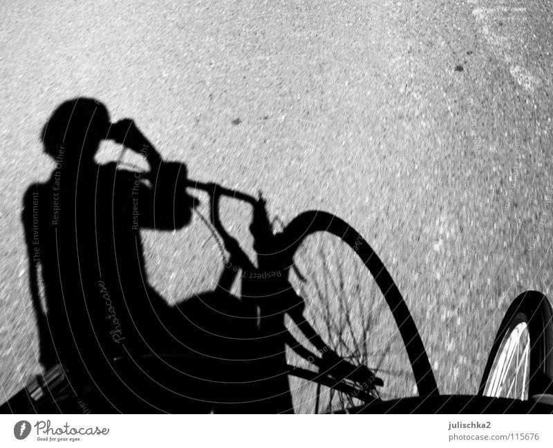 ichspigel Bicycle Summer Street Shadow Sun Movement Black & white photo