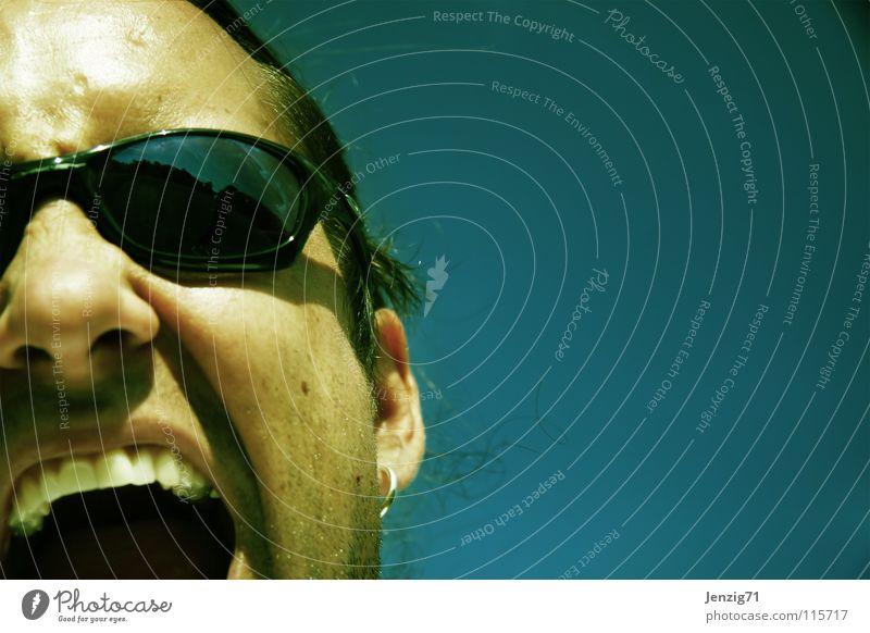 Listen to me! Scream To talk Eyeglasses Sunglasses Man argument arguments Face portrait cry