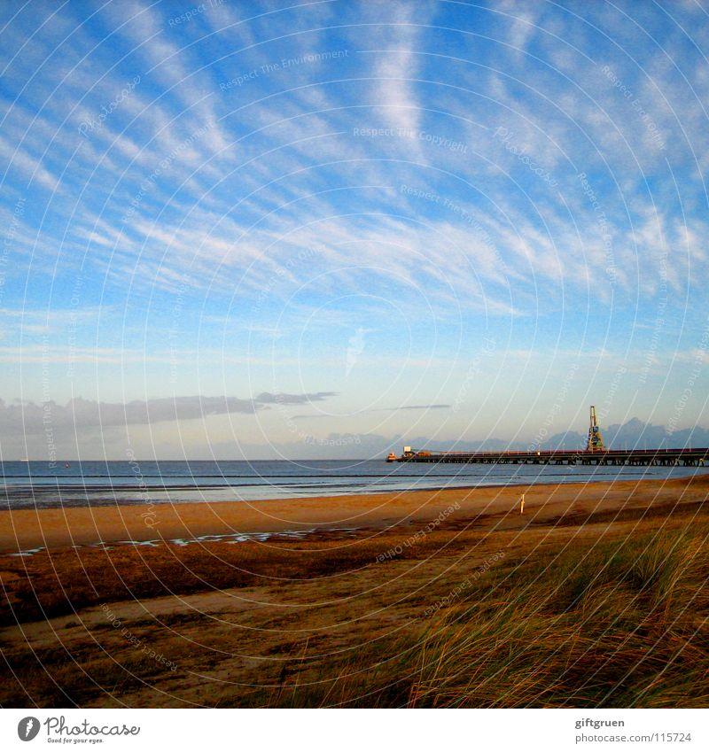 autumn landscape V Autumn Autumnal landscape Coast Multicoloured Seasons Beach Ocean Clouds Transience October November Bad weather Sky North Sea Lower Saxony