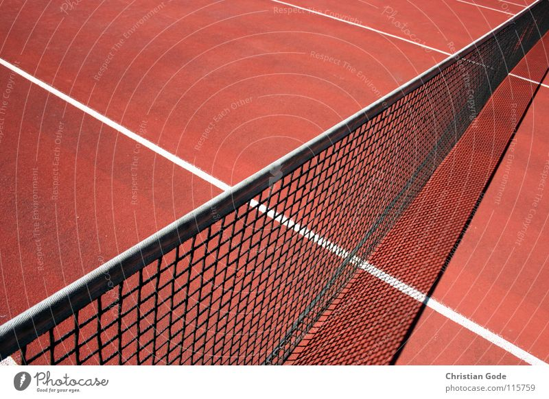 Game, Set and Victory Tennis Sporting grounds Playing field Service Red Line Summer Volleyball (sport) Beat Structures and shapes Reserved Baseline