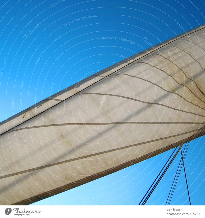ahoy II Sailing Watercraft Back-light White Wanderlust Navigation Ahoy Sky Aquatics Electricity pylon canvas Rope Wind Blue Line smarter exterior cube