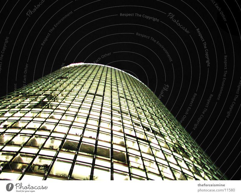 Potsdamer Platz railway tower Night High-rise Lighting Glas facade Architecture bright windows