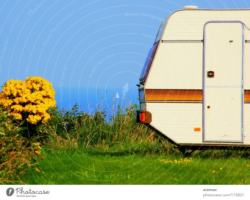 Ocean Summer Vacation & Travel Calm Relaxation Watercraft France Camping Caravan Brittany