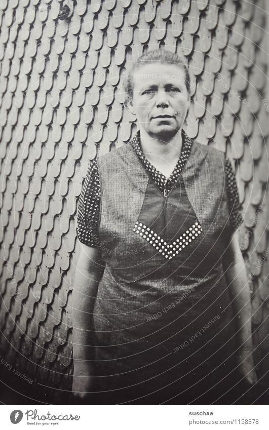 grandma bertha Woman Female senior Grandmother Wall (building) Old Black & white photo Memory family album