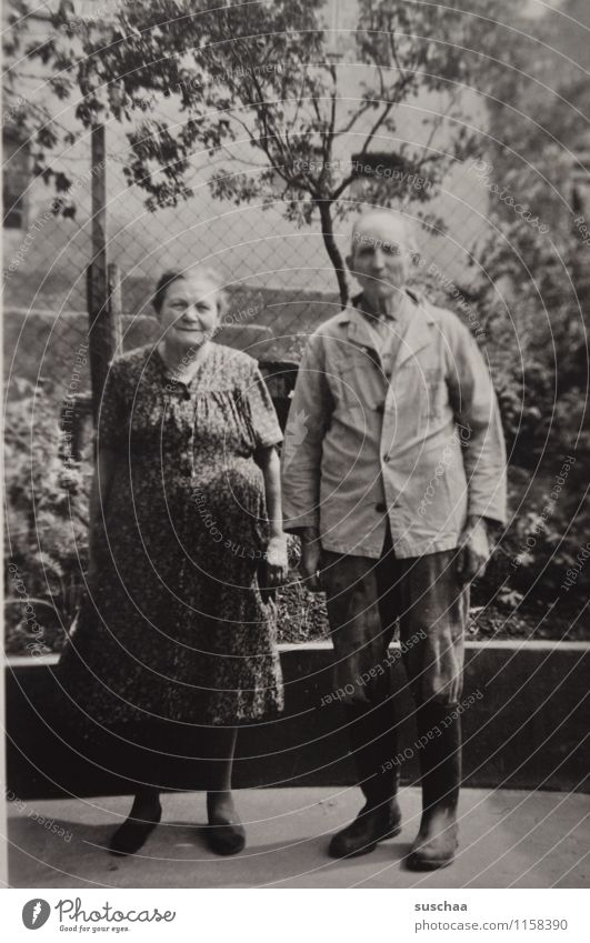 grandma bertha and grandpa gustaf (older) Female senior Male senior Grandmother Grandfather Family & Relations Grandparents family album Analog Photography