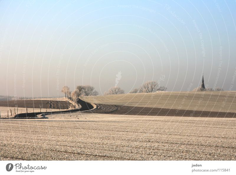 Sky Winter House (Residential Structure) Street Cold Mountain Lanes & trails Religion and faith Field Frost Hill Minimal House of worship Church spire Church spire