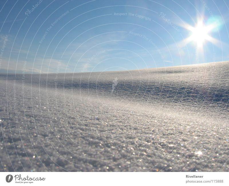Sky Sun Winter Clouds Cold Snow Landscape Ice Glittering Smooth Snowscape