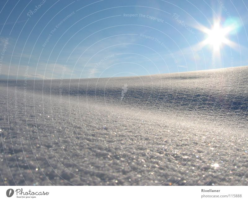 Sky Sun Winter Clouds Cold Snow Landscape Ice Glittering Smooth Snowscape
