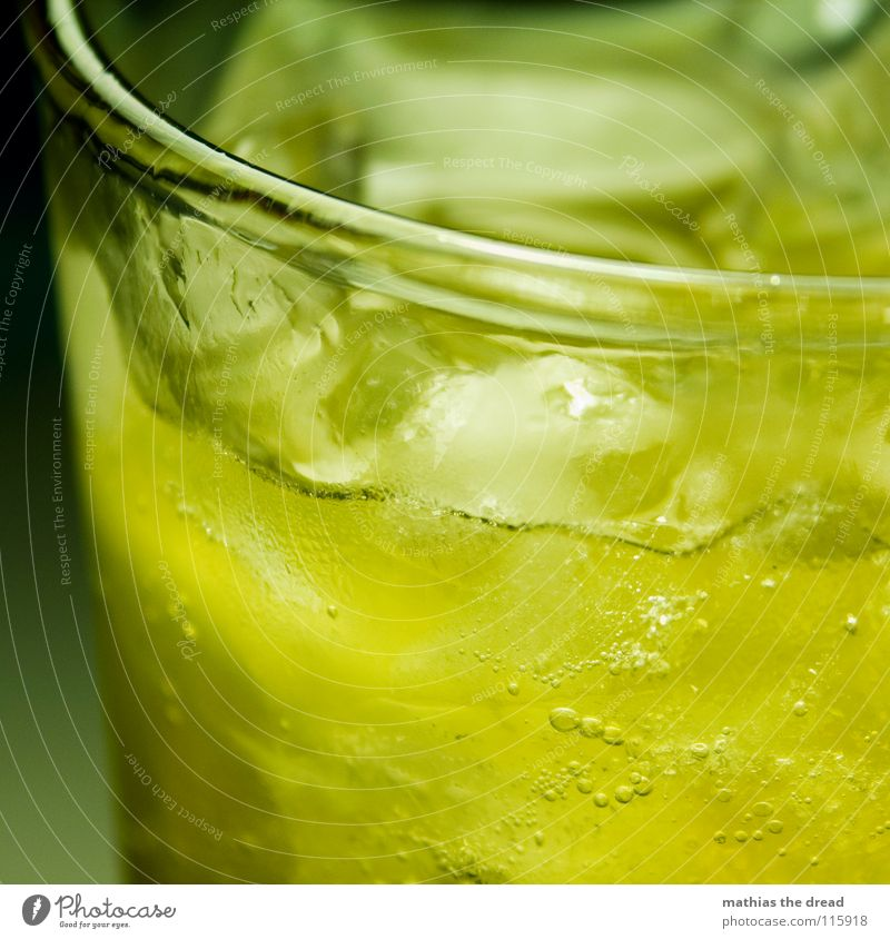 Yellow Cold Ice Orange Glass Beverage Drinking Fluid Alcoholic drinks Air bubble Edge Refreshment Thirst Cooling Lemonade Ice cube