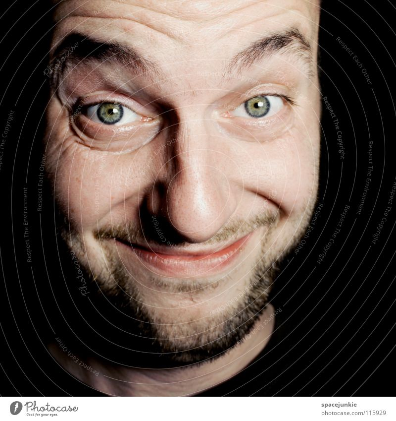 Man Joy Funny Laughter Crazy Surprise Whimsical Humor Grinning Skeptical Madness Human being Portrait photograph Agnostic