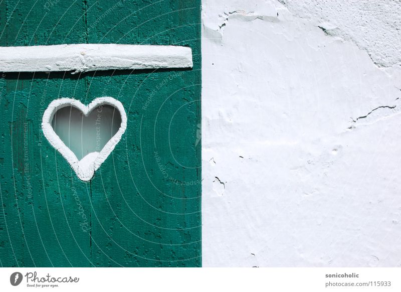herzilein Window Wall (building) White Wood Lake Wolfgang Salzkammergut Decoration Heart window flap Love