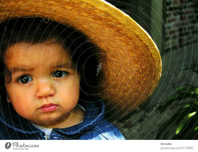 Girl Blue Face Eyes Lomography Toddler Mexico