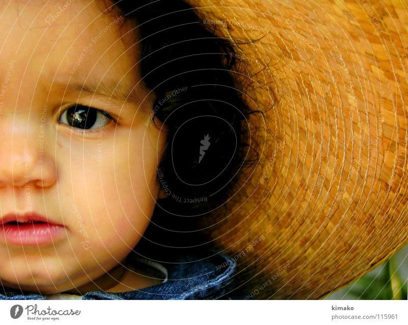 Girl Blue Face Eyes Toddler Mexico