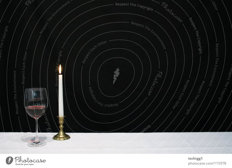 candlelight dinner Candle Light Table Red wine White Black Gastronomy Alcoholic drinks Nutrition Wine Tablecloth
