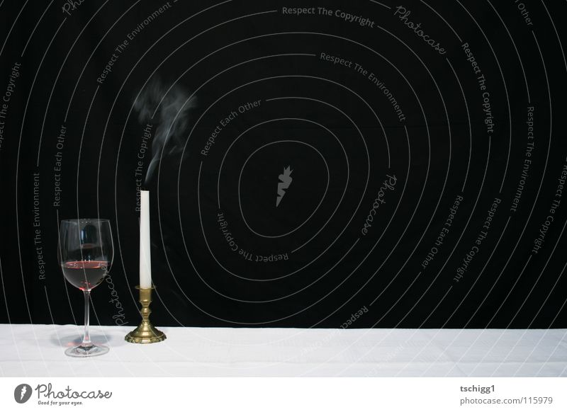 ex-candlelight dinner Candle Table Red wine White Black Gastronomy Alcoholic drinks Nutrition Wine Tablecloth