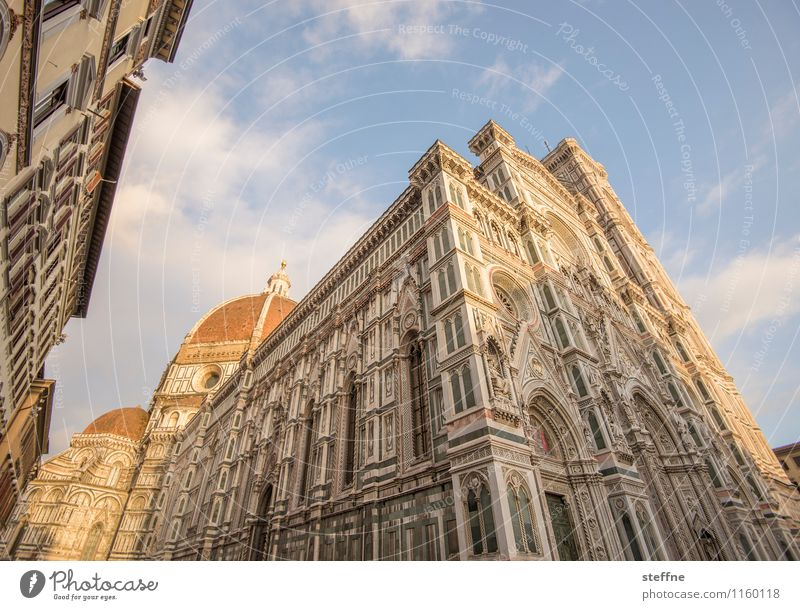 Santa Maria nel Sole Sunrise Sunset Sunlight Spring Beautiful weather Florence Tuscany Italy Church Dome Facade Esthetic Exceptional Religion and faith Marble