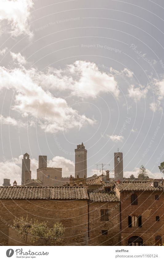 reach for the sky Sky Spring Beautiful weather San Gimignano Tuscany Italy Old town Skyline House (Residential Structure) High-rise Tower Exceptional