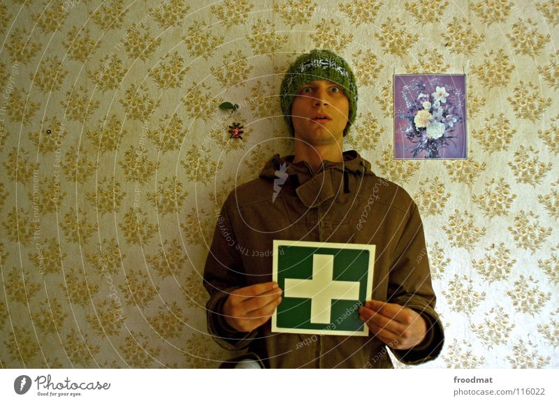 Flower Green Help Funny Germany Signs and labeling Back Retro Insect Trash Wallpaper Trashy Cap Signage Stupid Facial expression