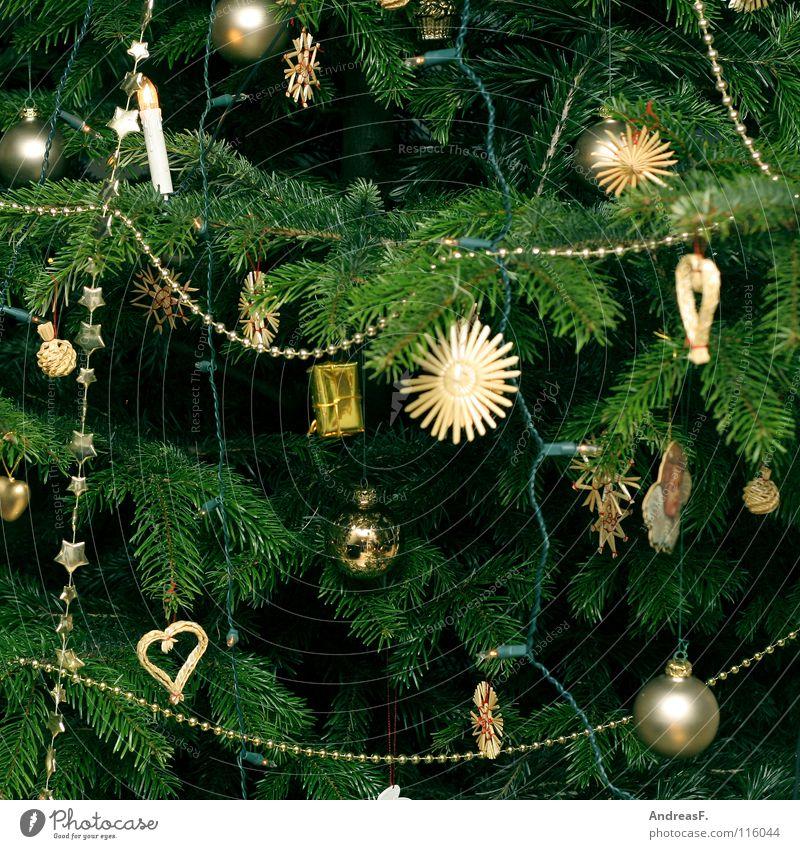 Christmas & Advent Green Tree Winter Decoration Star (Symbol) Kitsch Angel Christmas tree Fir tree Anticipation Glitter Ball Christmas decoration December