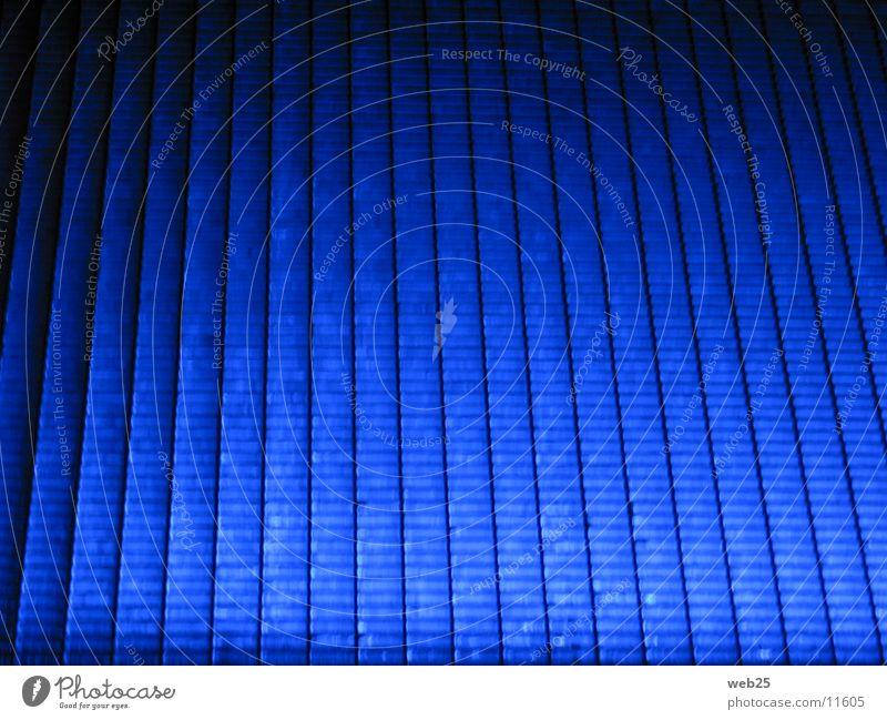 Blue grid Light Grating Footbridge Night Dark Obscure Lanes & trails Colour