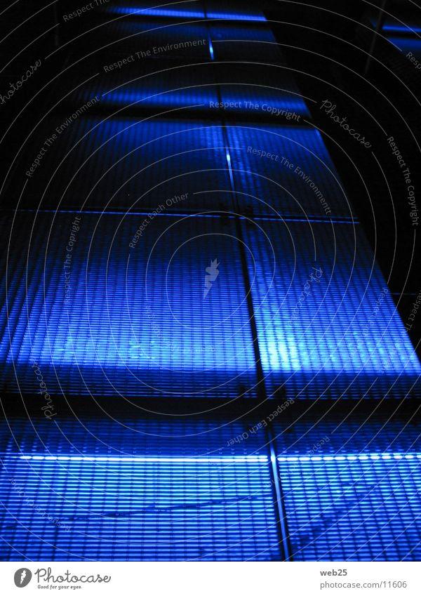Blue Colour Dark Lanes & trails Architecture Footbridge Grating